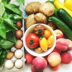 this week's haul (heymomo) Tags: toronto food veggies wychwoodbarns farmersmarket goodthingsgrowinontario goodfood goodforyou eatclean thestop