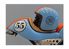 Exceptional Motorcylces.. (Harleynik Rides Again.) Tags: 55 norton dominator mirus55 gulf colour helmet harleynikridesagain nikondf