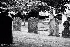 Stratford-upon-Avon Graves (Ally Kropp) Tags: travel blackandwhite bw reallyold old gravestones graves graveyard england stratforduponavon
