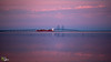 The Bridge (Stuart_Byles) Tags: ship sunset oresund copenhagen denmark sweden thebridge bridge redskies reflections sea