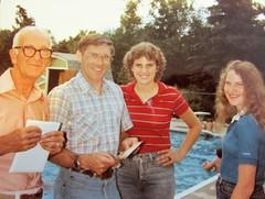 Grandpa Molt, Rick, Sheri and Lisa (creed_400) Tags: grandpa molt lisa sheri rick grand rapids michigan pool 1977
