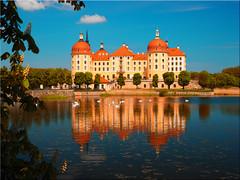 Castle Moritzburg near Dresden (Ostseetroll) Tags: deu deutschland geo:lat=5116510010 geo:lon=1368030009 geotagged moritzburg sachsen schloss castle germany spiegelungen reflections wasser water schwäne