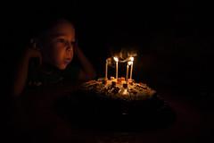 Blowing out years (sinnedasAkmak) Tags: cake boy candlefiresmoke gummybear birthdaykidchils child shadow light