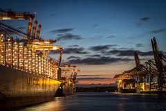 Hafen Hamburg (mschroeder_36x24) Tags: burchardkai containerschiff hafen elbe hamburg harbour