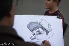 (by claudine) Tags: art byclaudinecom caricature cartoon cartoonist charcoal drawing italy pencil people piazzanavona roma rome fun funny candid