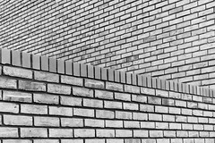 Brick Walls misaligned (Tom Reville) Tags: architecture bw blackandwhite cambridge ancient backdrop background black block brick brickwork brown column construction desktop dirty engineering floor grunge interior material monochrome mortar old pattern pier retro rough structure surface texture uk vintage wall wallpaper weathered white england unitedkingdom gb