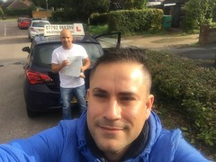 Congratulations Valdenir passing his practical test on his first attempt with only 3 minor faults!  www.leosdrivingschool.com