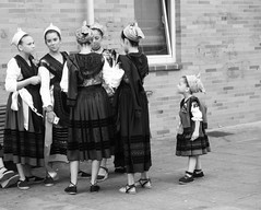 Wannabe (MiguelHax) Tags: bw wb spain arriondas festival groupgirls monochrome blackandwhite whiteandblack noiretblanc costume traditional