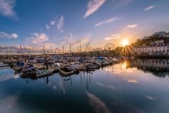 Torquay Harbour (_John Hikins) Tags: torbay torquay harbour seaside sea sun sunset boat boats clouds reflection d5500 devon nikon nikkor 1020mm 1020 wheel