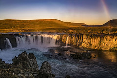 Dawning in Iceland (ChrisKirbyCapturePhotography) Tags: godafoss waterfall falls iceland rainbow dawn morning morninglight chriskirbycapturephotography