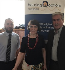 Attending housing options event in North Berwick