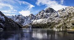 Laguna pirquinco en Agosto Congelada (JuanPablo V.O.) Tags: pirquinco santabarbara sony a7r fe 28mm mountains snow sky lake