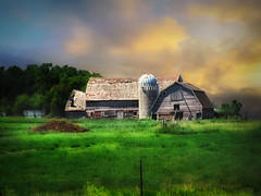 Old farm 5 (mrbillt6) Tags: landscape rural prairie farm barn silo grass treesscenic outdoors country countryside northdakota
