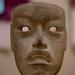 Olmec artist, Mask, c. 900-300 BC, Jadeite, cinnabar