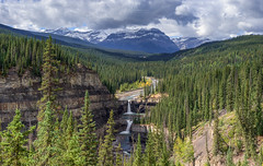 Bighorn Valley and Crescent Falls, Alberta (WherezJeff) Tags: alberta crescentfalls autumn pano clearwatercounty canada ca