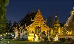 Wat Phra Singh Temple, Chiang Mai, Thailand (AdelheidS Photography) Tags: adelheidsphotography adelheidsmitt adelheidspictures thailand temple buddhism buddhist bluehour blue building evening asia watphrasingh chiangmai decoration gold beauty religion thai