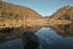 Cataract Gorge | Launceston, Tasmania (Ping Timeout) Tags: tasmania tassie state australia vacation holiday june 2017 island south commonwealth oz bass strait hobart tas launceston town city water river basin flat cliff cataract gorge tourist attraction bridge scene rock sight beautiful outdoor stone nature landscape wide angle reflection still lake morning stream esk winter