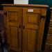 Tall pine solid wood 2 door storage unit cw shelves