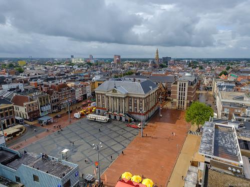 Groningen vanaf de Martinitoren.