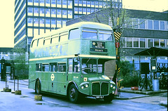 Slide 102-88 (Steve Guess) Tags: chiswick works london transport lt england gb uk bus rmc aec routemaster coach green line lcbs country rmc1482 480clt