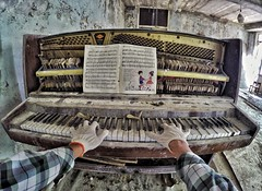 And now we start creepy song from Pripyat' (Alexandr Tikki) Tags: art amazing awesome alexandrtikki abandoned road music sad architecture autumn best creative crazy cool earth explore fantastic great gopro goprohero4 hero house incredible imagine idea impressive inspire illusion journey chernobyl pripyat leveltravel light lights moment me man new original outdoor perfect portrait place past ukraine unusual unique view world wow romance piano reminds us over again what happens