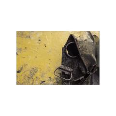 Reality and fiction. 4 Apocalypse...  ( 1997 ) (José Luis Cosme Giral) Tags: realityandfiction apocalypse old reserve fuel can reservefuelcan decay yellow oxide minimal marcoblanco minimalismo abstract nikon fm2 kodachrome64 scanned pamplona navarra fototomadaendiciembre1997
