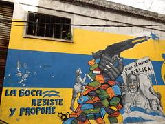 La Boca resists and proposes (aestheticsofcrisis) Tags: street art urban intervention streetart urbanart guerillaart graffiti postgraffiti buenos aires bsas argentina la boca