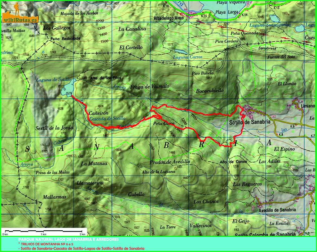 04.- Mapa do Trilhos 6 e 5 de Sotillo de Sannabria