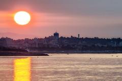 Sunrise over Victoria (C McCann) Tags: victoria bc britishcolumbia canada vancouverisland colwood sunrise dawn daybreak sun reflection morning city water skyline