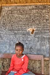 School black board in Sierra Leone