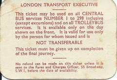 1961 LT London Transport Red Rover Ticket (reverse) (Faversham 2009) Tags: ticket scan scanned 1961 lt londontransport redrover bus buses london middlesex brent prestonroad londonboroughofbrent wembley