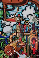 Colourful Steam Graffiti (Sue_Shaw) Tags: colourful colour graffiti artwork wallart artist art canon canon80d canoneos steam station cartoon engine characters
