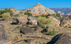 Basalt boulders on top of soft rock at the base of Boulder Mountain (spotwolf5) Tags: aquariusplateau southernutah