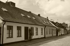 Old Street (Rudi Pauwels) Tags: lund skane sverige sweden schweden old oldhouses oldstreet bw blackandwhite blackwhite svartvit sepia clouds tamron 18270mm tamron18270mm nikon d7100 nikond7100
