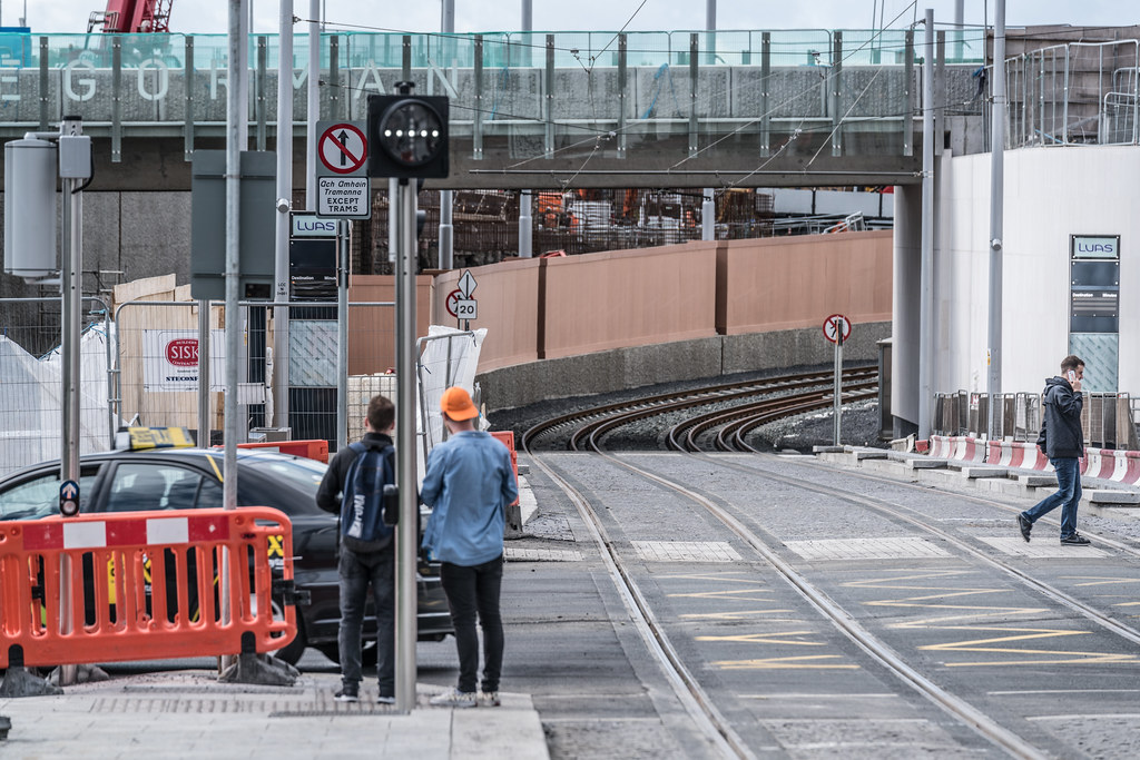 THE NEW LUAS TRAM STOP AT BROADSTONE [TESTING PHASE UNTIL EARLY DECEMBER]-1324720