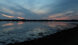 Bosham harbour at sunset, a few too many clouds tonight but I'll try again another time.
