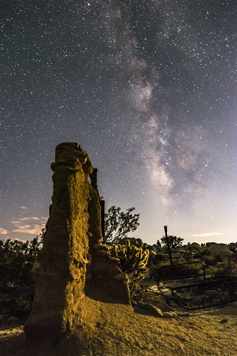 Milky Way Over the Ruins of the Marshal South House