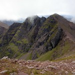 Corrag Bhuidhe and Sgurr Fiona from below Bidean a' Ghlas Thuil thumbnail