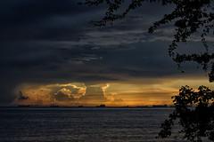 Cuando la tarde se rinde a la noche..!! (Nita_Fotos) Tags: • sun sundown clouds blue orange sea caribbean sol atardecer nubes azul naranja mar caribe sands arena playa lecheria venezuela laniñasalvajedelaselva