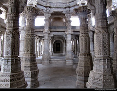 Jain Temple, Ranakpur, India (JH_1982) Tags: jain temple रणकपुर जैन मंदिरরণকপুর জৈন মন্দির religion religious spiritual shrine hinduism hindu white marble column columns architecture architektur art carving stone landmark building worship jainism adinath ranakpur rajasthan india भारत indien inde índia 印度 インド 인도 индия travel traveling holiday vacation sightseeing tourist tourism travelling
