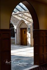 Courtyard Streaks (4 Pete Seek) Tags: stphillipscathedral cathedralofstphillips church atlantachurch atlanta atlantageorgia atl atlantaphotoworkshops arch shadows mirrorless sonnartfe1855 sonnar5518za