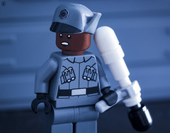Finn goes undercover (jezbags) Tags: lego legos legostarwars toy toys minifigure minifigures macro macrophotography macrodreams macrolego canon60d canon 60d 100mm closeup upclose starwars star wars last jedi episode8 finn officer undercover firstorder trooper
