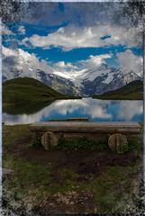 Lac Bachalp - Grindelwald - Suisse (jamesreed68) Tags: canon eos 600d lac bachalp eau montagne nature suisse alpes alps schweiz mountain grindelwald oberland berne banc