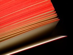 paperback (vertblu) Tags: red white black paper pages book paperbackbook paperback bookpages vertblu tilted diagonal opened reading minimal minimalism minimalismus abstractfeel almostabstract colourful colour lines linien anglesanglesangles macromode macro makro detail detailed rotrossorougerood onblack blackbackground