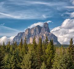 Castle Mountain (Philip Kuntz) Tags: castlemountain mounteisenhower eisenhowertower banff alberta mountains peaks