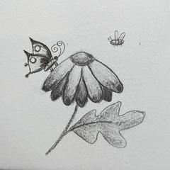 Petit dessin pour le plaisir. (cecile_halbert) Tags: carnetdecroquis carnetdessin dessin croquis crayon croquisrapide imaginaire imagination pencildrawing pencil pencilsketch pencildraw carbondraw carbondrawing moleskine sketchbookpage sketchbook sketching quicksketch sketch sketcher drawing