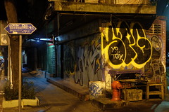 Yo Toy (Harri Suvisalmi) Tags: klongtoey khlongtoei bangkok thailand illustration picture painting graffiti street sign xt10 fujifilm night xf35mmf2rwr fuji