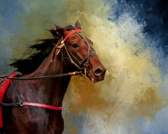 Horse (BirgittaSjostedt_away until 24 Febrtuary) Tags: horse animal texture paint art portrait birgittasjostedt magicunicornverybest