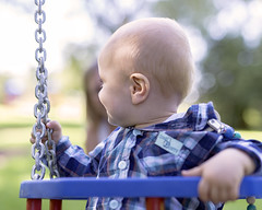 just happy as a child... (David Kracht) Tags: child kid young boy lucky noworries swing swings innocent free family children backagain