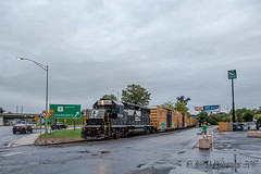 NS EMD GP40-2 #3044 @ Morrisville, PA (Darryl Rule's Photography) Tags: 2017 aestaley buckscounty csaodelmorrave clouds cloudy conrail conrailsharedassets emd freight freightcar freighttrain freighttrains gp402 local morrisville ns nightevening norfolksouthern pa pennsy pennsylvania pennsylvaniaave pennsylvaniarailroad rain rainy september staley staleylocal summer tankcar tankcartrain tankcars tankers